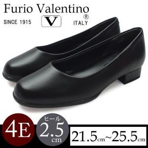 4E フォーマルパンプス ヒール2.5cm ブラック 走れるパンプス 痛くない Furio Valentino|karadaniluck