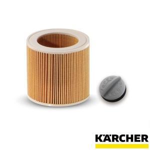 ケルヒャー KARCHER バキュームクリーナー用筒型フィルター 固定ノブ付き