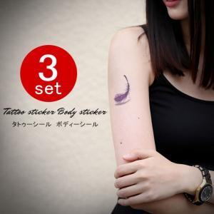 3セット タトゥーシール ボディーシール 蝶 花 サソリ バラ リボン 紅葉 tattoo 送料無料|karei-fuku