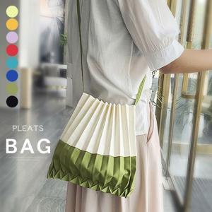 バッグ レディース アコーディオン プリーツ風 巾着バッグ プリーツバッグ ミニバッグ エコバッグ コンパクト 収納力|karei-fuku