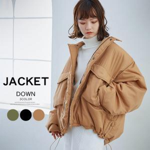 中綿コート 棉ブルゾン レディース オーバーサイズ ボリューム感 保温性 暖かい ビッグシルエット アウター|karei-fuku