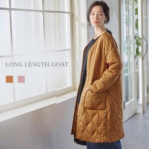 レディースアウター ノーカラーコート コート ダウンコート風 薄手中綿コート レディース 冬 30代 インナーコート キルティングコート|karei-fuku