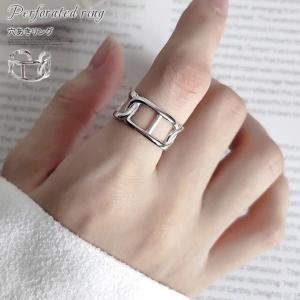指輪 リング レディース 穴あ アクセサリー パーティ 結婚式 プチギフト プレゼント ボリューム|karei-fuku