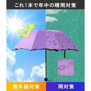 折りたたみ傘 UVカット 完全遮光 日傘 晴雨...の詳細画像1