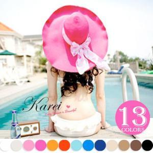 セール UV 帽子 紫外線100%カット 紫外線対策 新作 つば広 日よけ 麦わら UVカット ストローハット UVハット レディース    karei-fuku