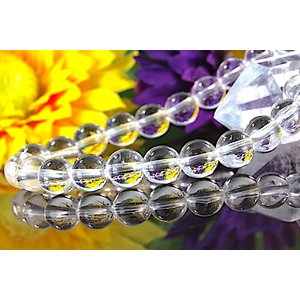 【送料無料】《珠径8mm 内径16cm 》ヒマラヤ水晶ブレスレット クォーツ パワーストーン 天然石ブレスレット code1901|karen-ya