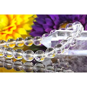 【送料無料】《珠径8mm 内径16cm 》ヒマラヤ水晶ブレスレット クォーツ パワーストーン 天然石ブレスレット code1902|karen-ya