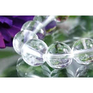 【送料無料】《珠径10mm 内径15cm 》ヒマラヤ水晶ブレスレット クォーツ パワーストーン 天然石ブレスレット code1959|karen-ya