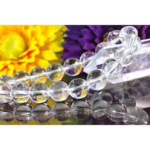 【送料無料】《珠径10mm 内径16cm 》ヒマラヤ水晶ブレスレット クォーツ パワーストーン 天然石ブレスレット code1990|karen-ya