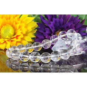 【送料無料】《珠径10mm 内径15cm 》ヒマラヤ水晶ブレスレット クォーツ パワーストーン 天然石ブレスレット code1995|karen-ya