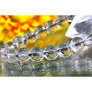 【送料無料】《珠径7mm 内径15cm》 プラチナルチルクォーツ 微細針 白金水晶 パワーストーン天然石ブレスレット code3095|karen-ya