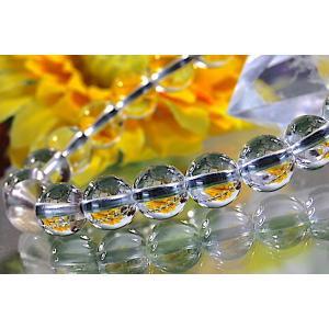 【送料無料】《珠径8mm 内径15cm》 プラチナルチルクォーツ 微細針 白金水晶 パワーストーン天然石ブレスレット code3099|karen-ya