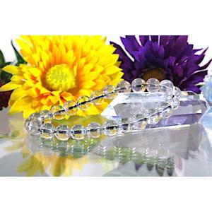 【送料無料】《珠径7mm 内径15cm》 プラチナルチルクォーツ 微細針 白金水晶 パワーストーン天然石ブレスレット code3103|karen-ya