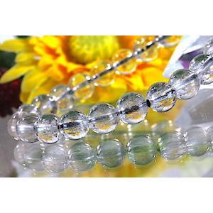 【送料無料】《珠径8mm 内径15.5cm》 プラチナルチルクォーツ 微細針 白金水晶 パワーストーン天然石ブレスレット code3104|karen-ya