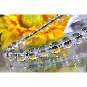 【送料無料】《珠径8mm 内径15cm》 プラチナルチルクォーツ 微細針 白金水晶 パワーストーン天然石ブレスレット code3106|karen-ya