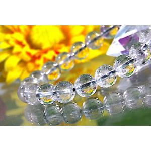 【送料無料】《珠径8mm 内径15.5cm》 プラチナルチルクォーツ 微細針 白金水晶 パワーストーン天然石ブレスレット code3109|karen-ya