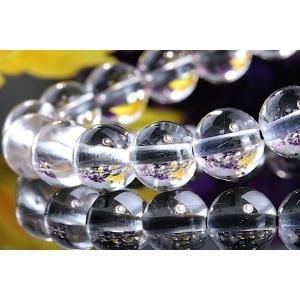【送料無料】《珠径7mm 内径15cm 》プラチナルチルクォーツ 微細針 白金水晶 パワーストーン天然石ブレスレット code3131|karen-ya