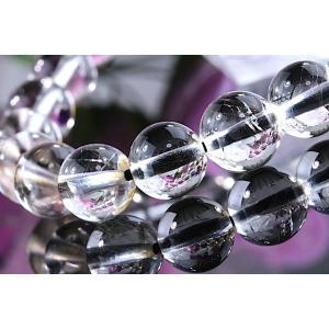 【送料無料】《 珠径9mm 内径16cm 》プラチナルチルクォーツ 微細針 白金水晶 パワーストーン天然石ブレスレット code3133|karen-ya