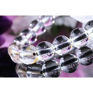 【送料無料】《珠径7mm 内径15cm 》プラチナルチルクォーツ 微細針 白金水晶 パワーストーン天然石ブレスレット code3134|karen-ya