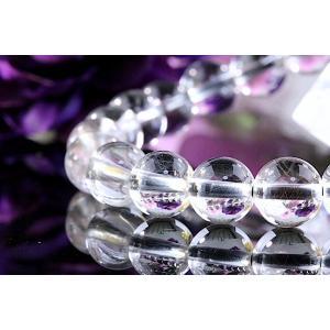 【送料無料】《珠径7mm 内径15cm 》プラチナルチルクォーツ 微細針 白金水晶 パワーストーン天然石ブレスレット code3136|karen-ya