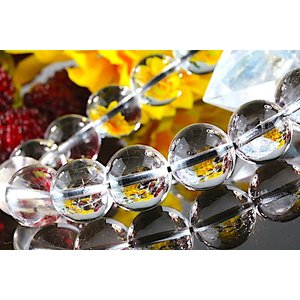 【送料無料】《珠径12mm 内径17cm 》プラチナルチルクォーツ 微細針 白金水晶 パワーストーン天然石ブレスレット code3189|karen-ya