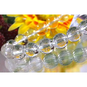 【送料無料】《珠径9mm 内径16cm》 プラチナルチルクォーツ 微細針 白金水晶 パワーストーン天然石ブレスレット code3208|karen-ya