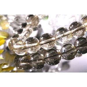 【送料無料】《珠径9mm 内径15.5cm 》プラチナルチルクォーツ 微細針 白金水晶 パワーストーン天然石ブレスレット code3285|karen-ya
