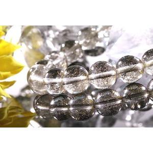 【送料無料】《珠径9mm 内径15.5cm 》プラチナルチルクォーツ 微細針 白金水晶 パワーストーン天然石ブレスレット code3292|karen-ya
