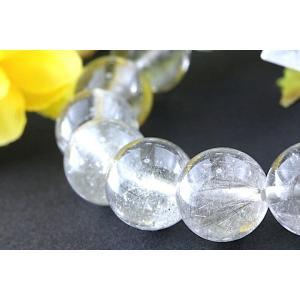 【送料無料】《珠径11mm 内径16.5cm》 プラチナルチルクォーツ 微細針 白金水晶 パワーストーン天然石ブレスレット code3367|karen-ya