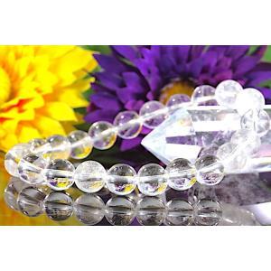 【送料無料】《珠径8mm 内径15.5cm 》ヒマラヤ水晶ブレスレット クォーツ パワーストーン 天然石ブレスレット code3450|karen-ya