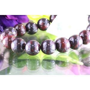 【送料無料】《珠径10mm 内径15cm》 ブラッドストーン パワーストーン天然石ブレスレット code3603|karen-ya