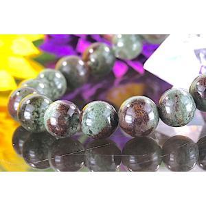 【送料無料】《 珠径10mm 内径16cm》モスグリーン ガーデンクォーツ 庭園水晶 ブレスレット パワーストーン 天然石 code4026|karen-ya