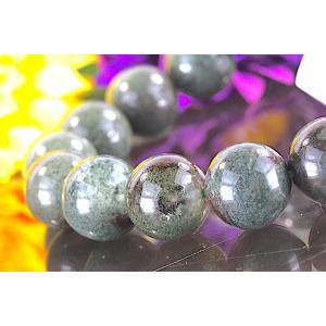 【送料無料】《 珠径11mm 内径15.5cm》モスグリーン ガーデンクォーツ 庭園水晶 ブレスレット パワーストーン 天然石 code4048|karen-ya