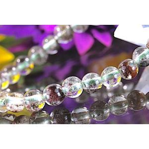 【送料無料】《珠径5mm 内径14.5cm 》ガーデンクォーツ 庭園水晶 ブレスレット パワーストーン 天然石ブレスレット code5800|karen-ya