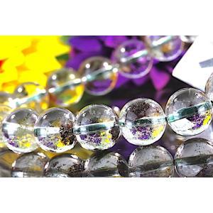 【送料無料】《珠径10mm 内径17.5cm 》 ガーデンクォーツ 庭園水晶 ブレスレット パワーストーン 天然石 code5812|karen-ya