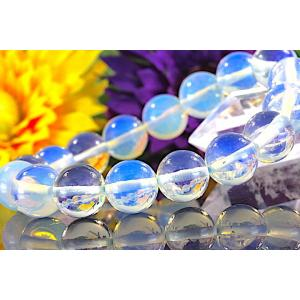 【送料無料】《珠径12mm 内径16cm》幸運の オブシディアン オパール 10月 誕生石 パワーストーン ブレスレット code6216|karen-ya
