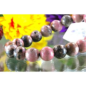 【送料無料】《珠径10mm 内径15.5cm 》テンドリック ロードナイト パワーストーン天然石ブレスレット code8746|karen-ya