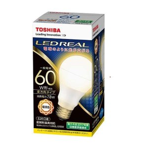 東芝LED電球LDA8L-G/60W 電球色|karimerobox