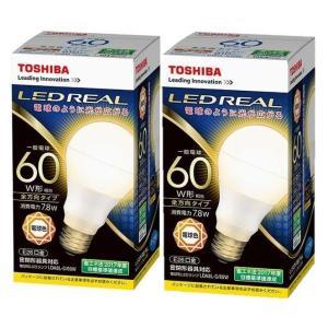 東芝LED電球LDA8L-G/60W(2個セット)電球色|karimerobox