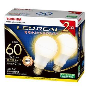 東芝LED電球LDA8L-G/60W(2個入り)電球色|karimerobox
