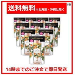 レノア ハピネス アロマジュエル 衣類の香りづけ アプリコット&ホワイトフローラルブーケ 詰め替え 455mL×10袋 karimerobox