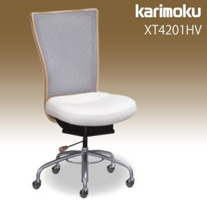 カリモク デスクチェア 【XT4201HV】 合成皮革張り ロッキング ガス昇降 在宅ワーク SOHO 安心の国内生産 karimoku|karimokutokuyaku