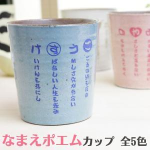 ロックカップ なまえポエム 名入れ 送料無料 プレゼント ギフト なまえポエム 信楽焼ロックカップ 木箱入り karin-e