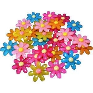 プラパーツ フラワー 7枚花びら 約30×30mm 2個セット|karin-style