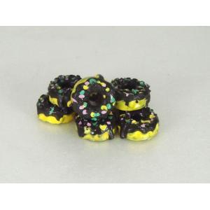 チョコ スプリンクル ドーナッツ 約12mm 3個セット|karin-style