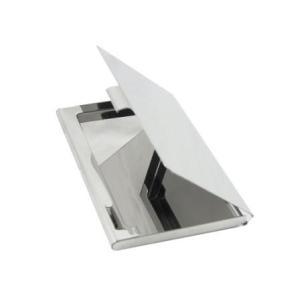鏡面薄型カードケース 名刺入れ シルバー|karin-style