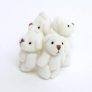 デコ用 くまのぬいぐるみ ホワイト4個セット 約35mm|karin-style|02