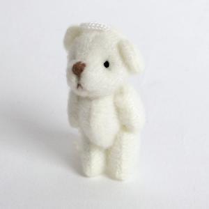 デコ用 くまのぬいぐるみ ホワイト4個セット 約35mm|karin-style|03