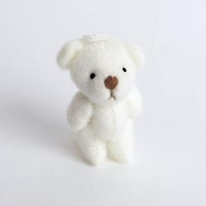 デコ用 くまのぬいぐるみ ホワイト4個セット 約35mm|karin-style|04
