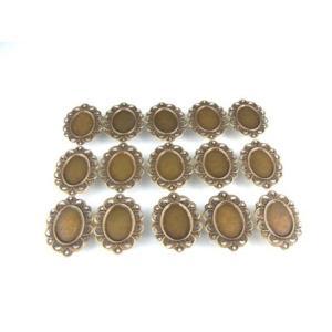 UVレジン枠 楕円皿 (大) アンティークゴールド色 15個セット|karin-style